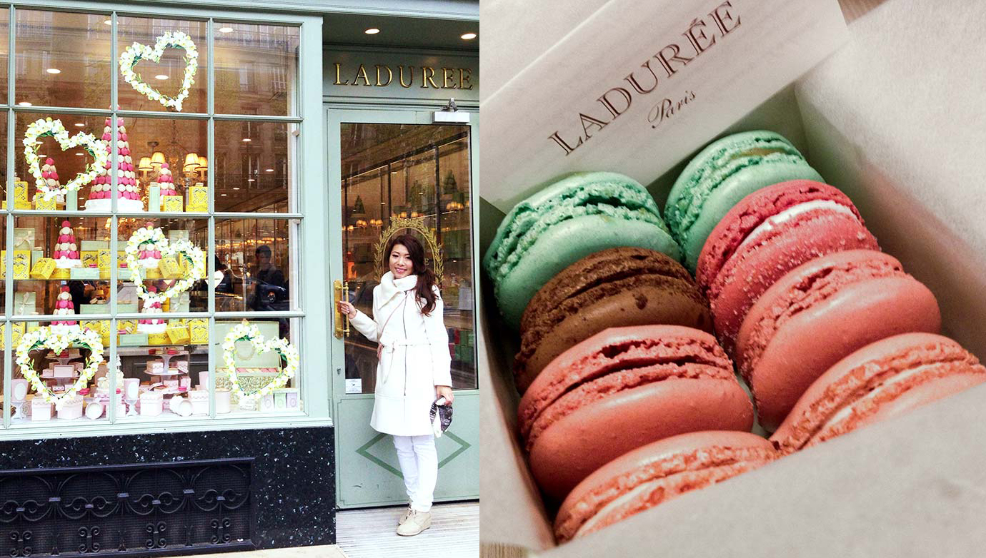 Getting my macroons on at Ladurée